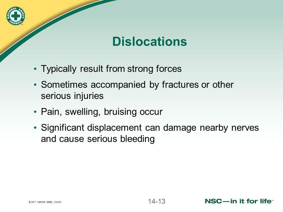 Dislocations Typically result from strong forces