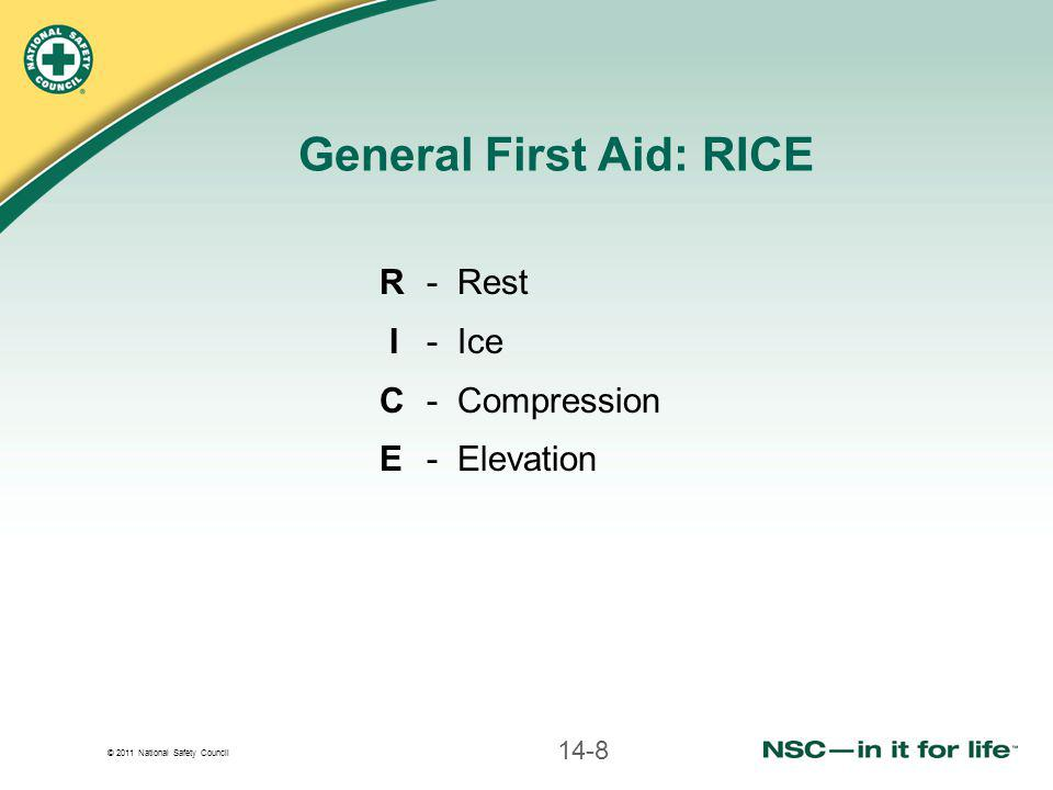 General First Aid: RICE