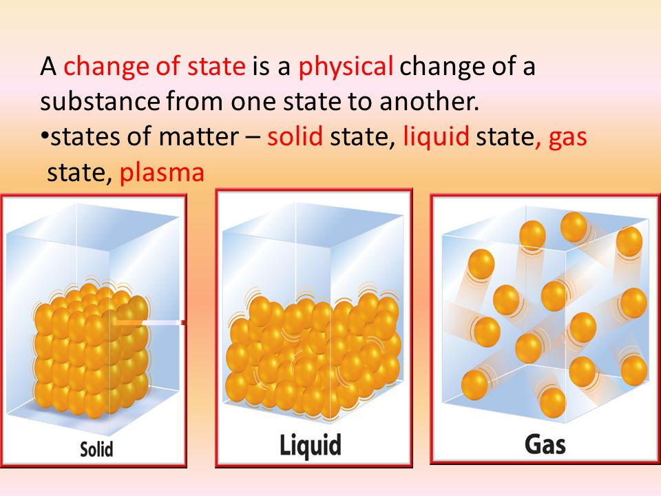 A change of state is a physical change of a