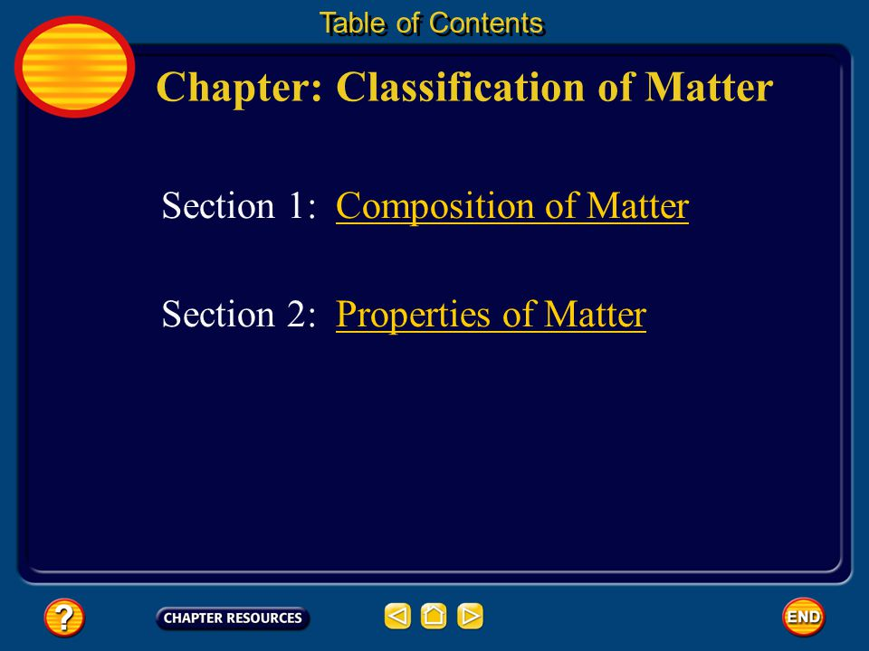 Chapter: Classification of Matter