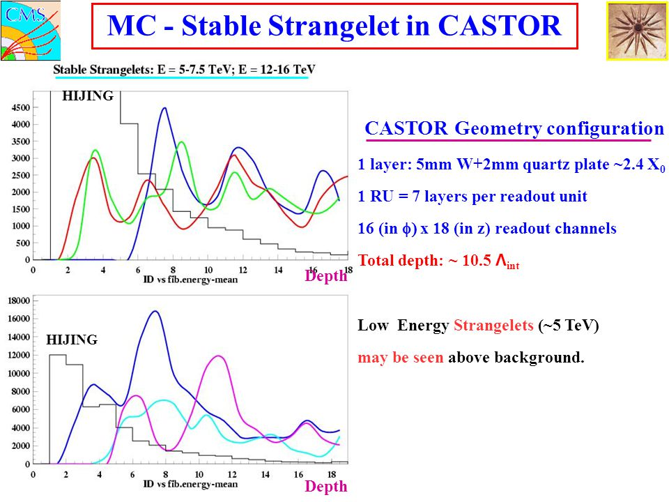 MC - Stable Strangelet in CASTOR