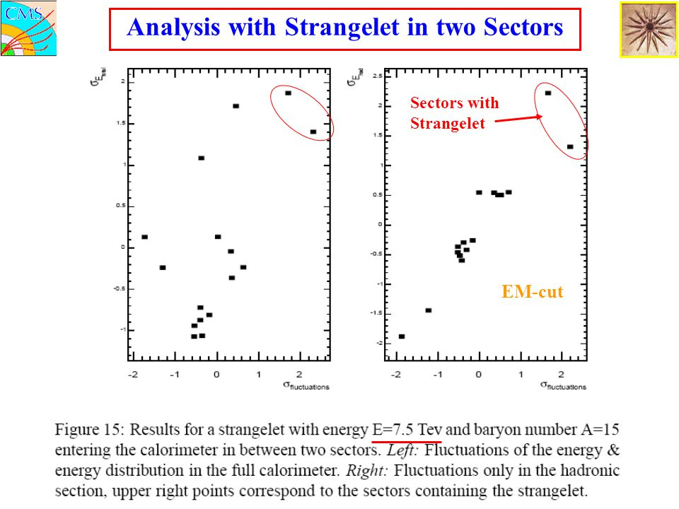 Analysis with Strangelet in two Sectors