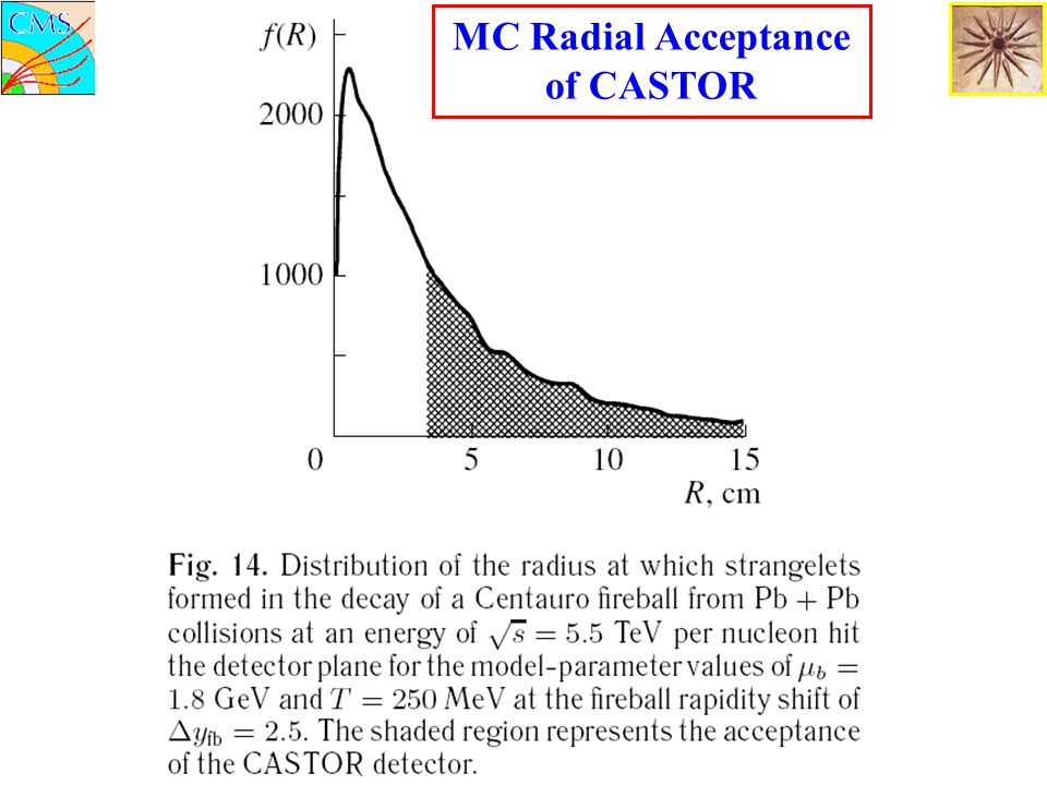 MC Radial Acceptance of CASTOR