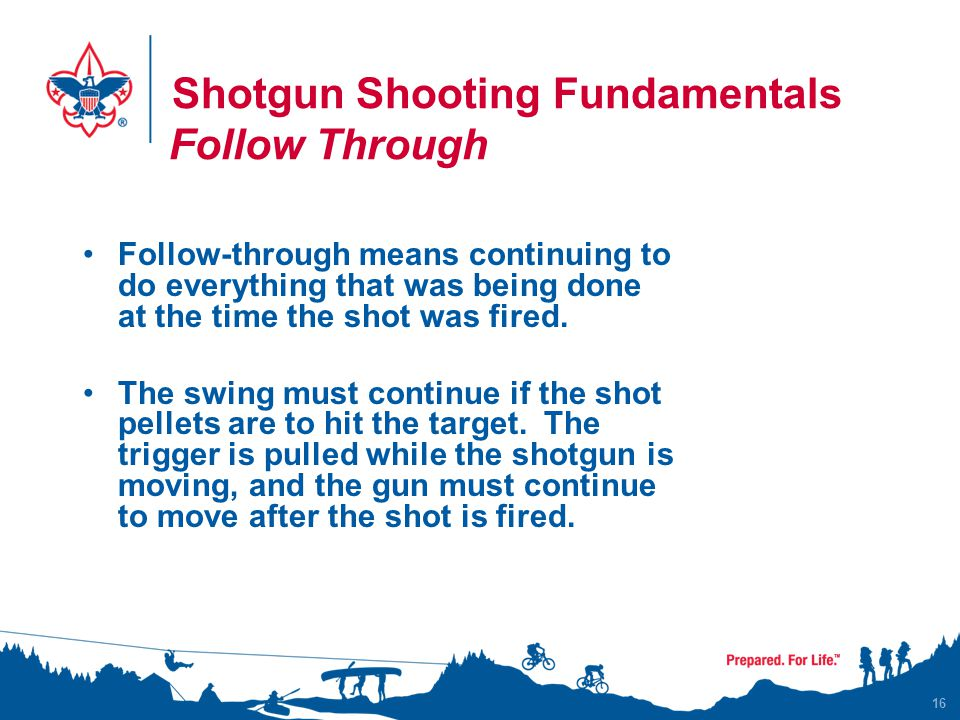 Shotgun Shooting Fundamentals Follow Through