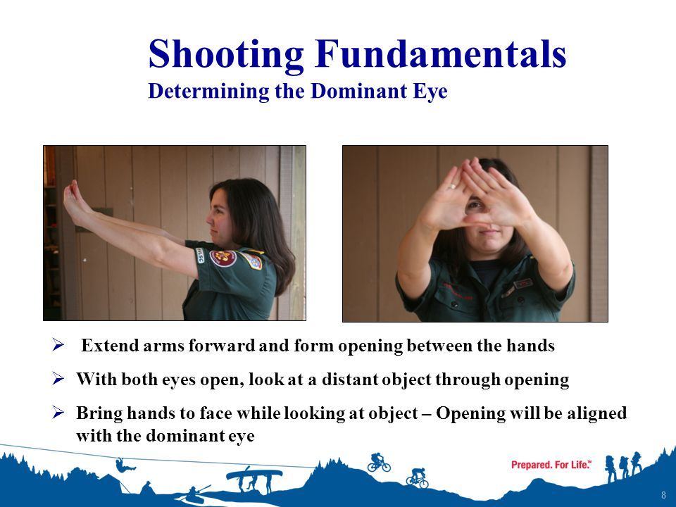 Shooting Fundamentals Determining the Dominant Eye