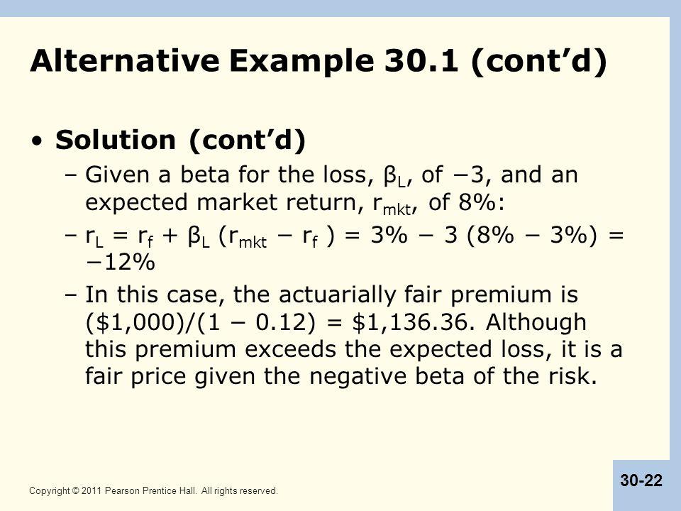 Alternative Example 30.1 (cont'd)
