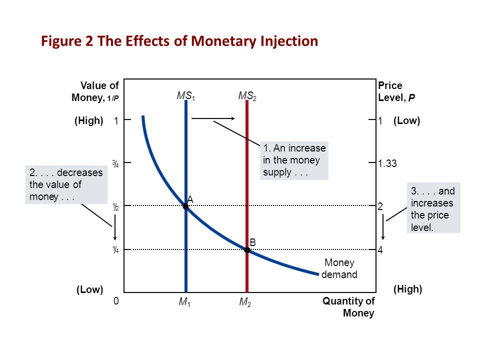 Figure 2 The Effects of Monetary Injection