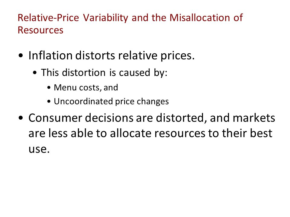 Relative-Price Variability and the Misallocation of Resources