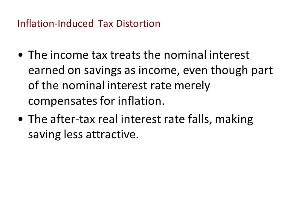 Inflation-Induced Tax Distortion