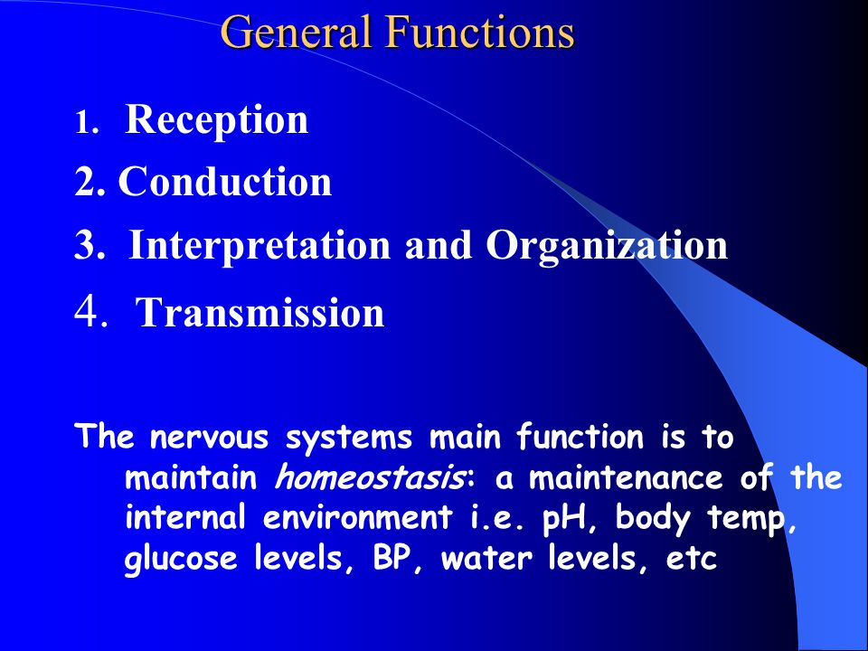 General Functions 4. Transmission Reception 2. Conduction