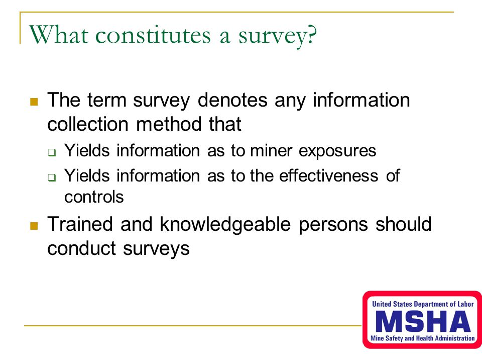What constitutes a survey