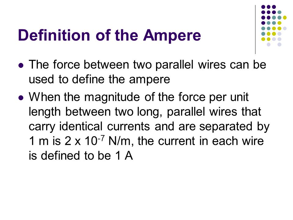 Definition of the Ampere