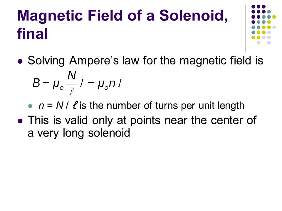 Magnetic Field of a Solenoid, final