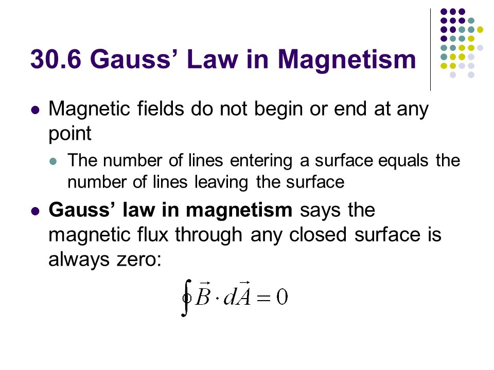 30.6 Gauss' Law in Magnetism