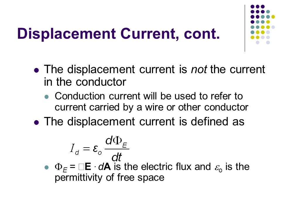 Displacement Current, cont.