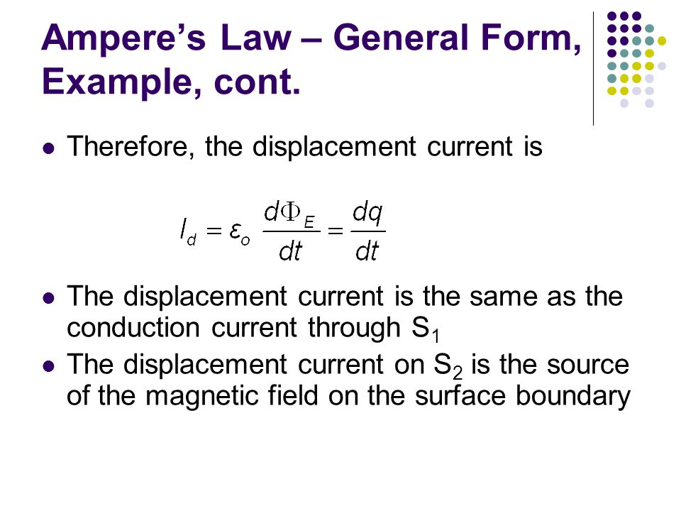 Ampere's Law – General Form, Example, cont.