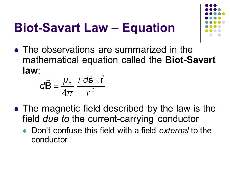 Biot-Savart Law – Equation