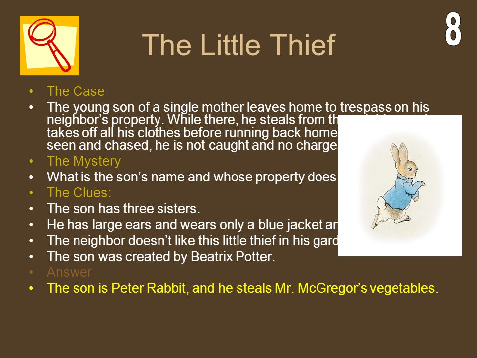 The Little Thief 8 The Case
