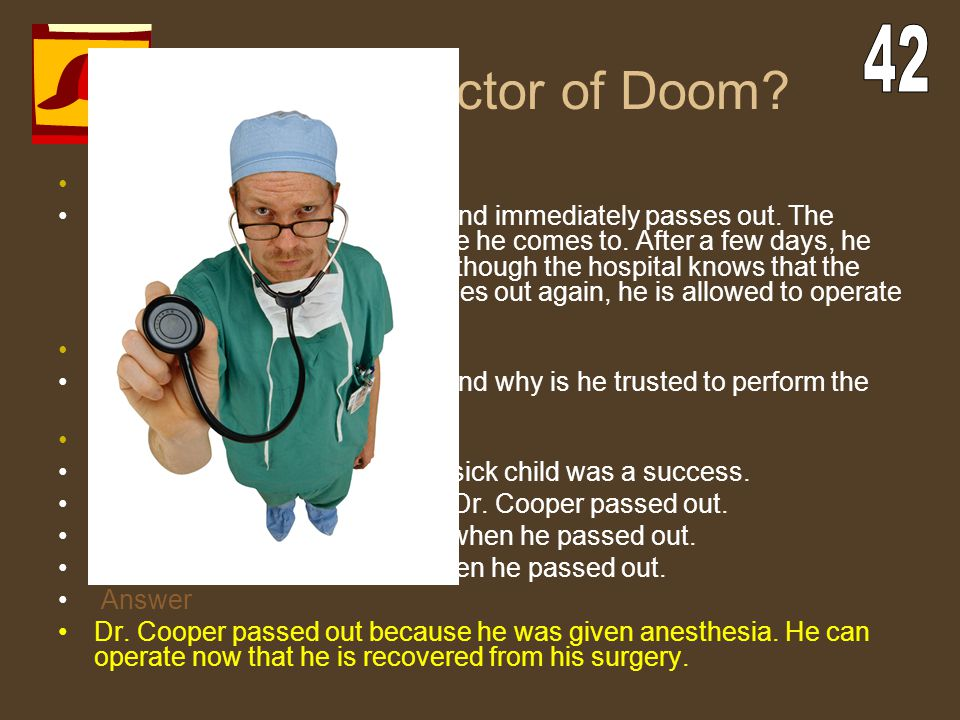 The Doctor of Doom 42 The Case
