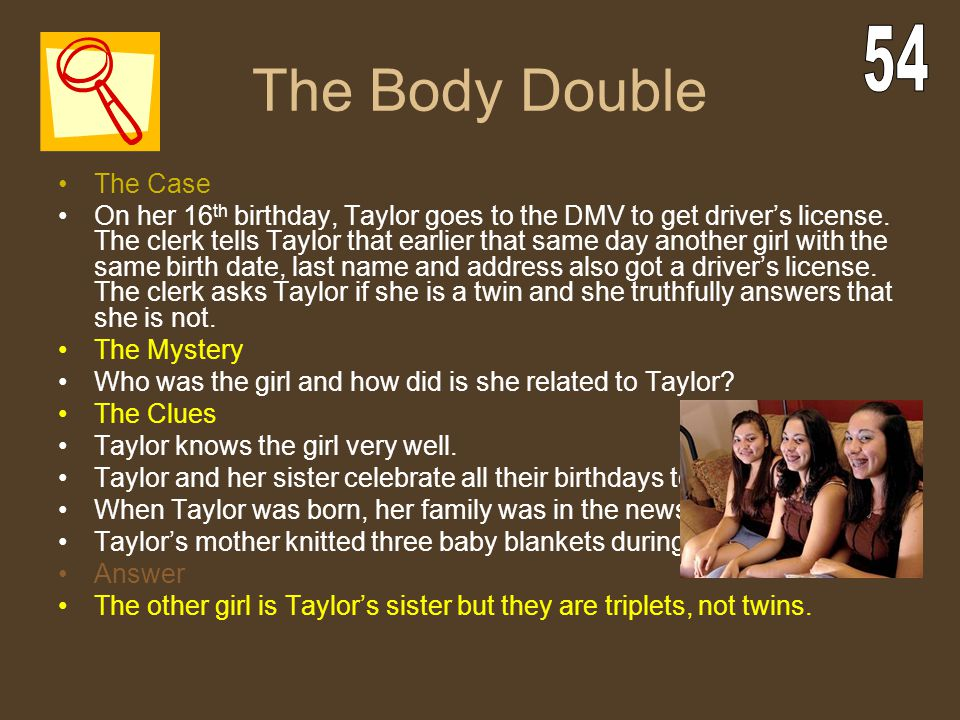 The Body Double 54 The Case