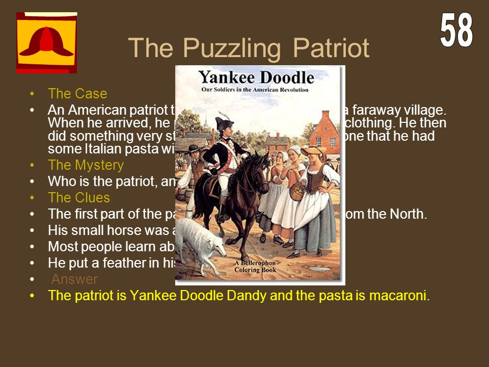 The Puzzling Patriot 58 The Case
