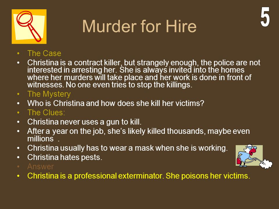 Murder for Hire 5 The Case