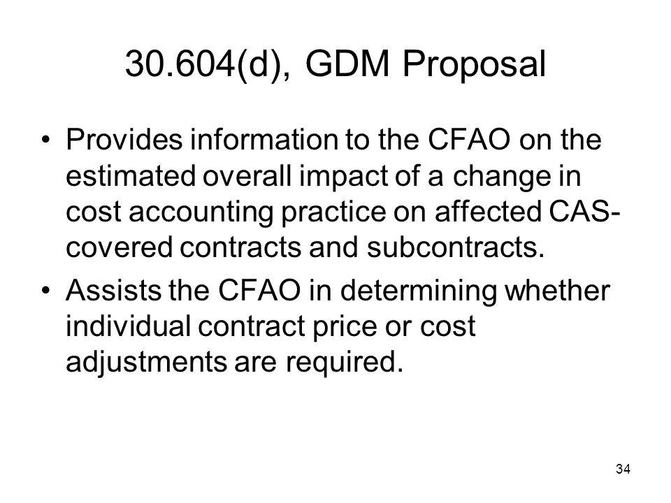 30.604(d), GDM Proposal
