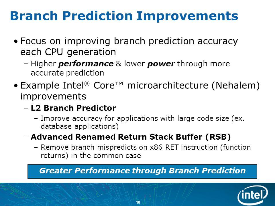 Branch Prediction Improvements