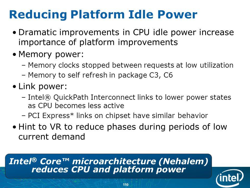 Reducing Platform Idle Power