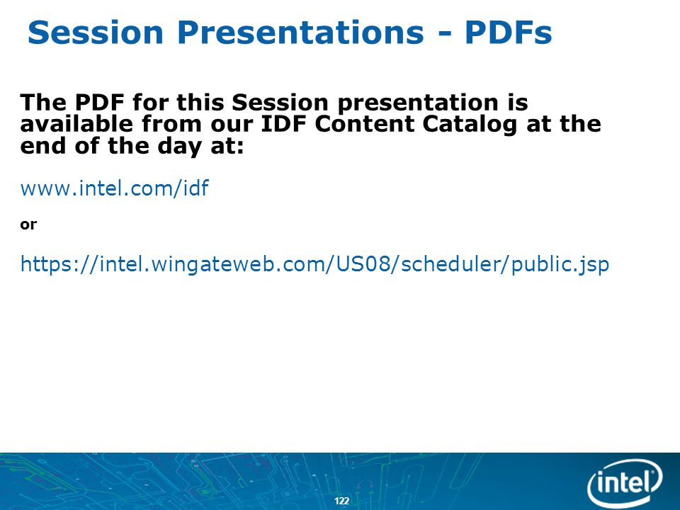 Session Presentations - PDFs