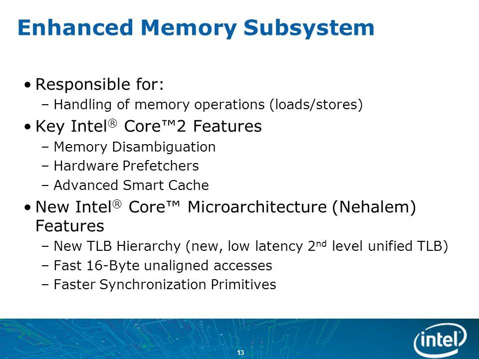 Enhanced Memory Subsystem