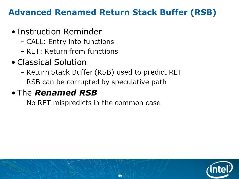 Advanced Renamed Return Stack Buffer (RSB)