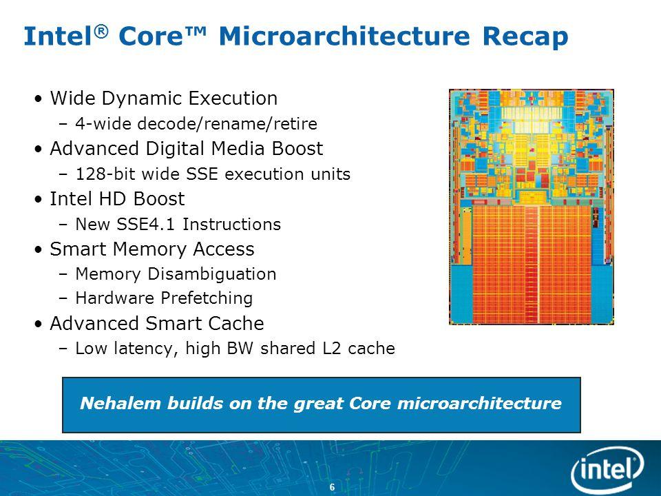 Intel® Core™ Microarchitecture Recap
