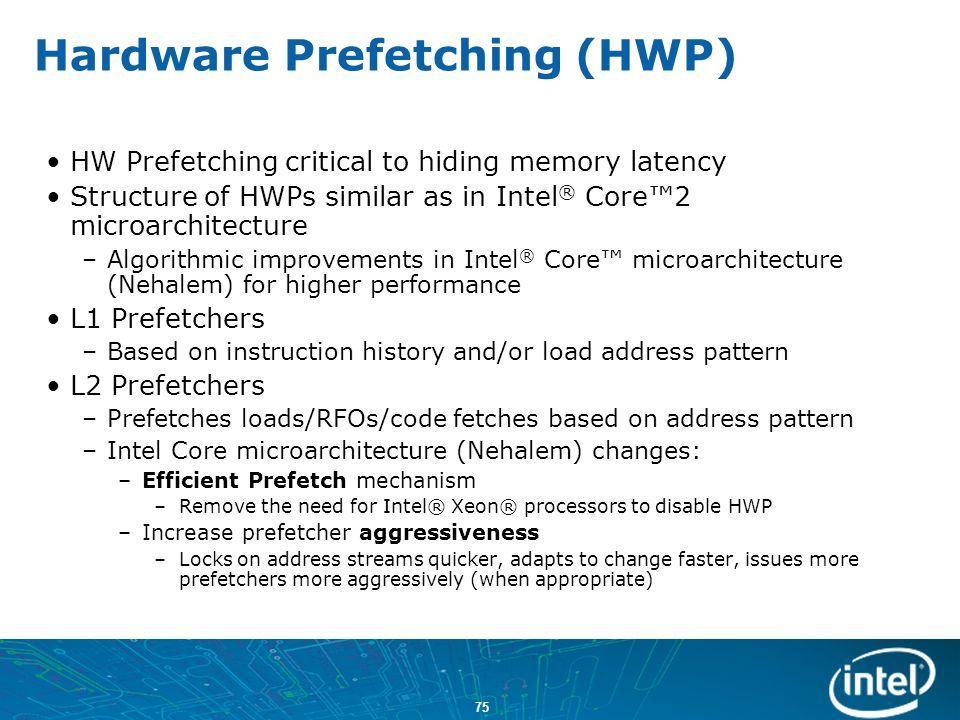 Hardware Prefetching (HWP)