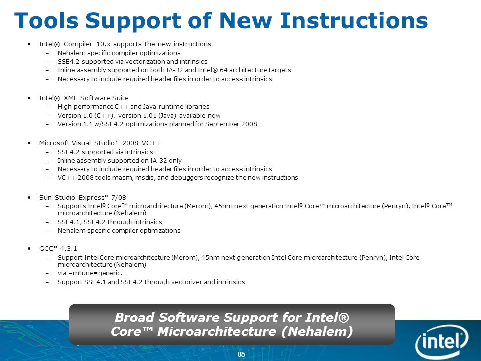 Tools Support of New Instructions