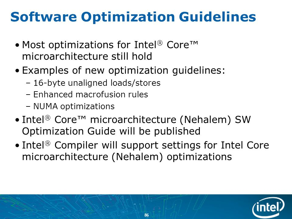 Software Optimization Guidelines