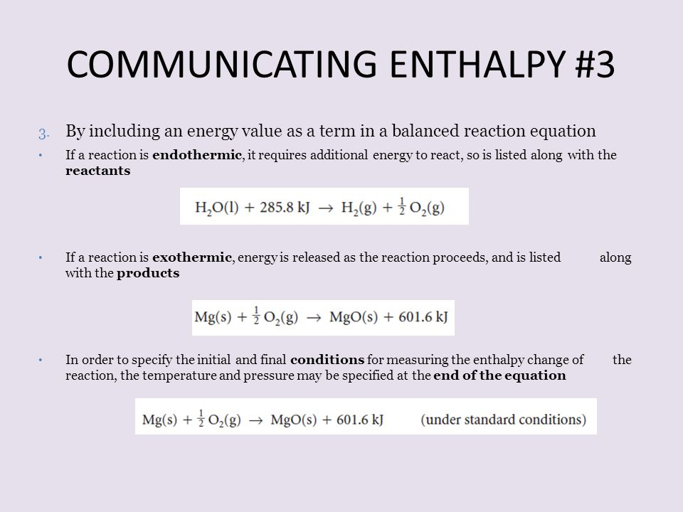 COMMUNICATING ENTHALPY #3