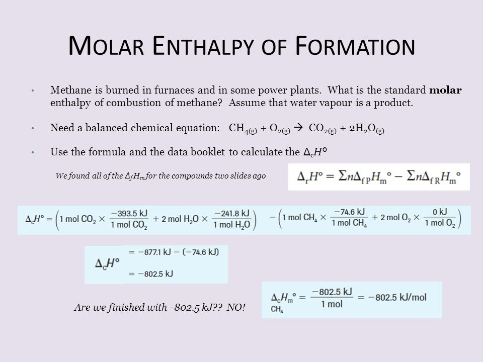Molar Enthalpy of Formation