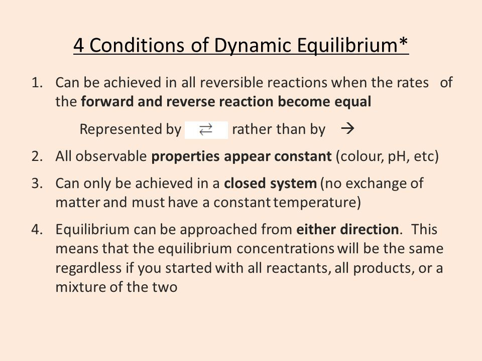4 Conditions of Dynamic Equilibrium*