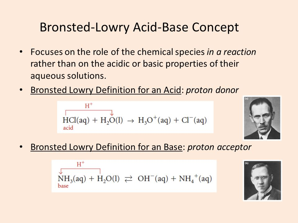 Bronsted-Lowry Acid-Base Concept