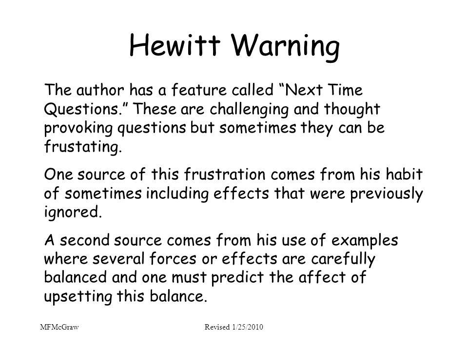 Hewitt Warning