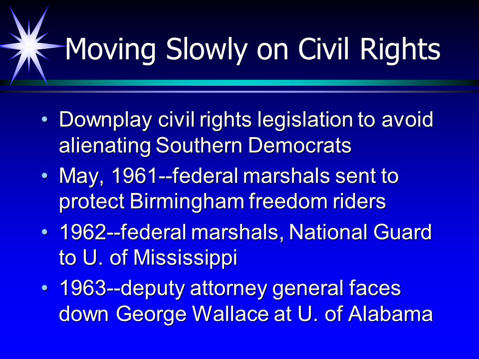 Moving Slowly on Civil Rights