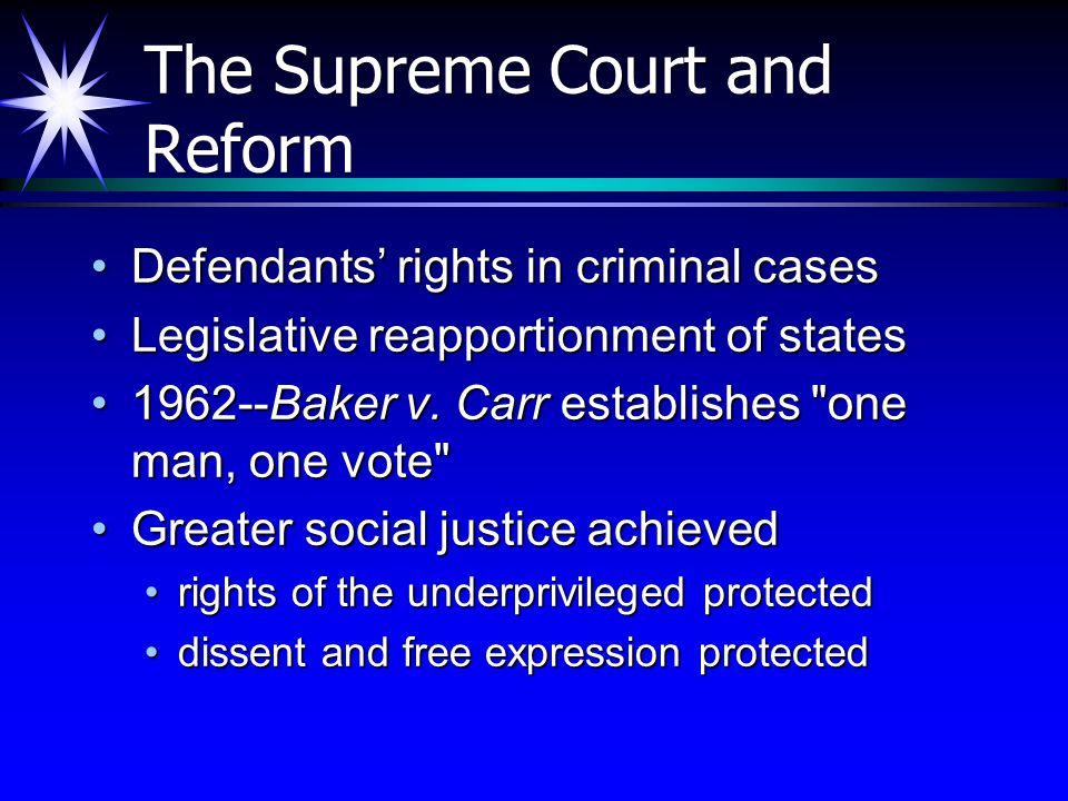 The Supreme Court and Reform