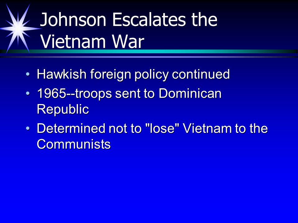 Johnson Escalates the Vietnam War