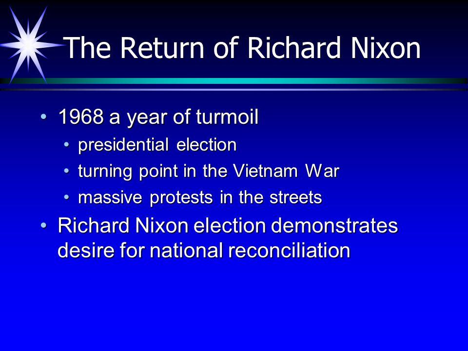 The Return of Richard Nixon