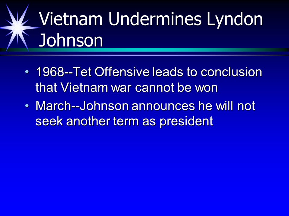 Vietnam Undermines Lyndon Johnson