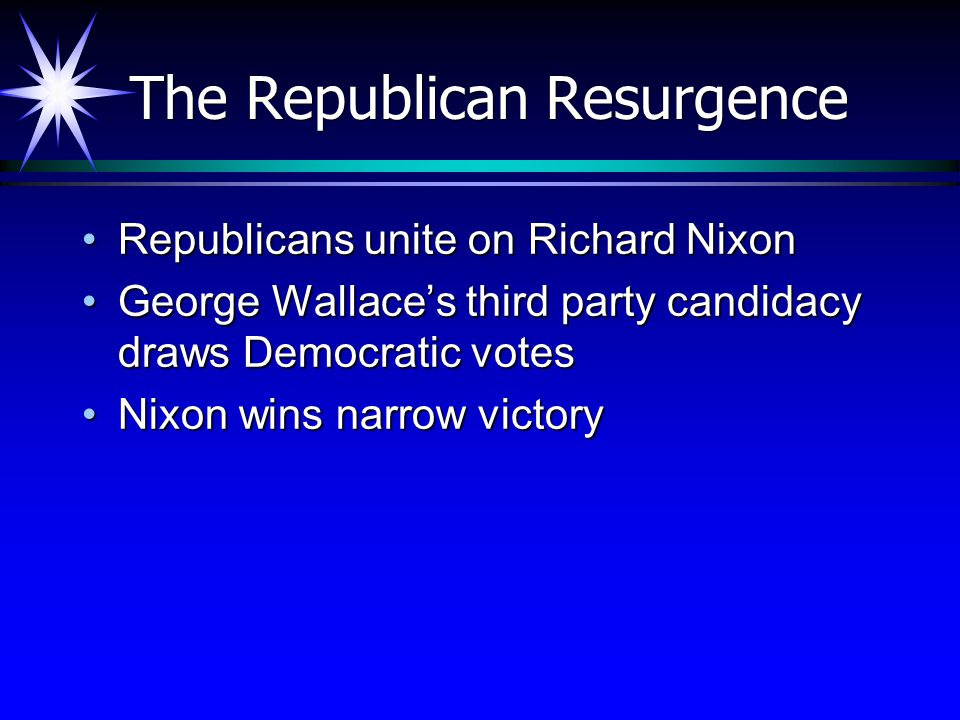 The Republican Resurgence