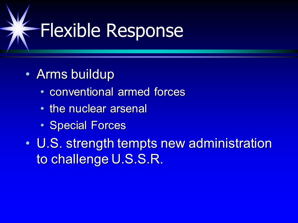 Flexible Response Arms buildup