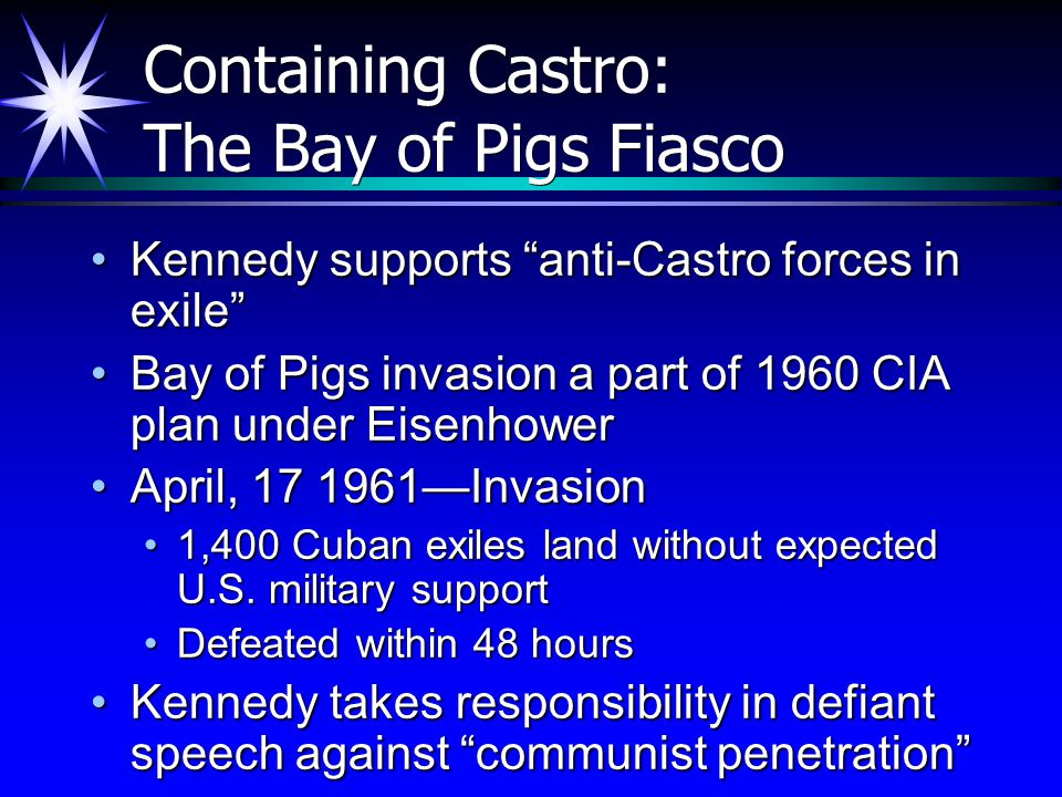 Containing Castro: The Bay of Pigs Fiasco