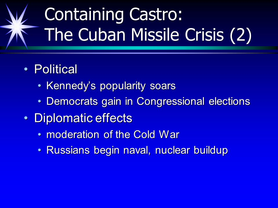 consequences of the cuban missile crisis essay 2017-1-25  we are now within two months of what may be humankind's most dangerous moment since the cuban missile crisis japan.